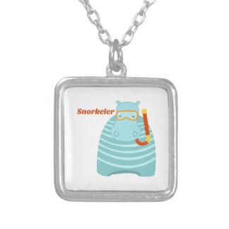 Hippo Snorkeler Necklace