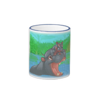 Hippo Splash Ringer Mug