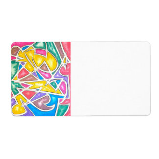 Hippo Star - Abstract Art Label