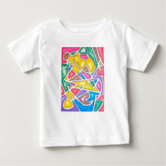 Hippo Star-Hand Painted Abstract Geometric Baby T-Shirt