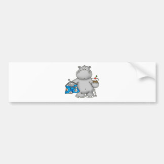 Hippo_Summer_Conflict.png Bumper Sticker