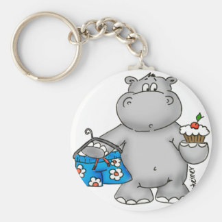 Hippo_Summer_Conflict.png Basic Round Button Keychain