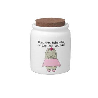 Hippo Tu Tu Fat Candy Jars