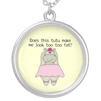 Hippo Tu Tu Fat Custom Necklace