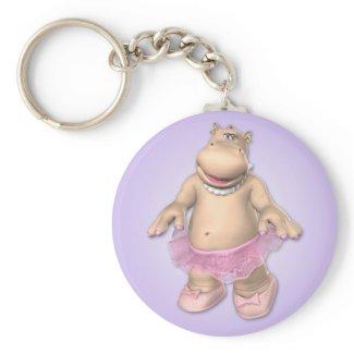 Hippo Tutu Keychain zazzle_keychain