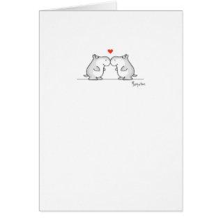 Hippo Valentine's Day Valentines By Boynton Card at Zazzle