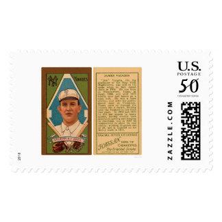 Hippo Vaughn Yankees Baseball 1911 Postage