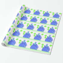 Hippo with Balloons Wrapping Paper