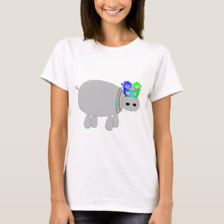 Hippo with beads & a mask: Mardi Gras tees & more