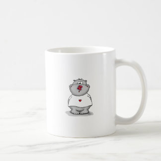 Hippo with Butterfly on his Nose Coffee Mug