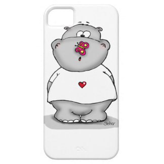 Hippo with Butterfly on his nose. iPhone SE/5/5s Case
