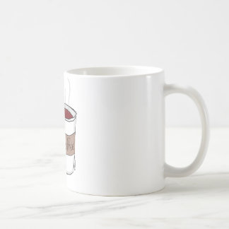 Hippo with Coffee Classic White Coffee Mug