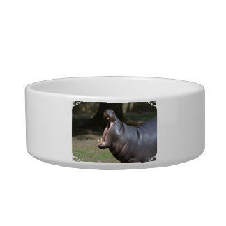 Hippo with His Mouth Open Pet Food Bowls