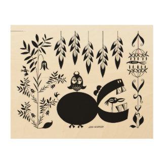 Hippo yawning wood wall decor