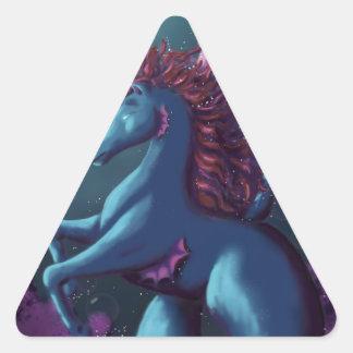 Hippocamp Pegatina Triangular