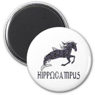 Hippocampus 2 Inch Round Magnet