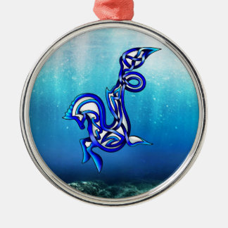 Hippocampus Metal Ornament