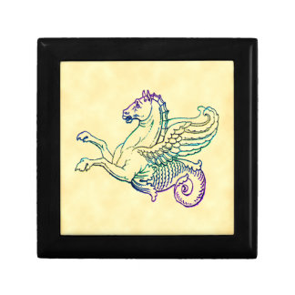 Hippocampus Mythical Sea Horse Vintage Art Gift Boxes