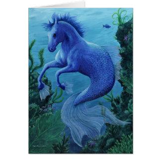 Hippocampus notecard greeting card