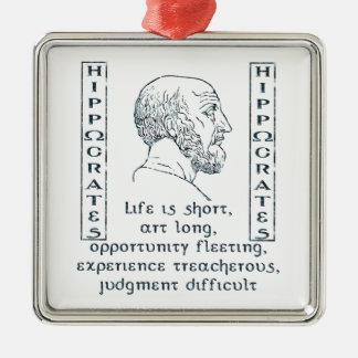 Hippocrates Metal Ornament