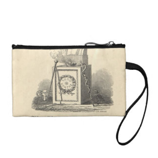 Hippocrates on Pedestal Coin Wallet