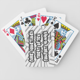 Hippocrates Quote Cure Treat Comfort Bicycle Playing Cards