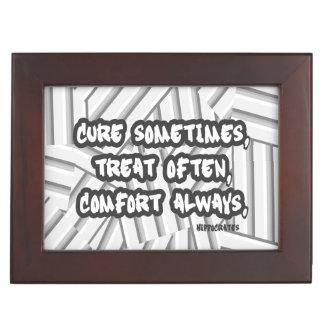 Hippocrates Quote Cure Treat Comfort Keepsake Box