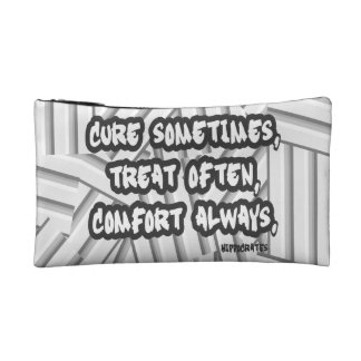 Hippocrates Quote Cure Treat Comfort Makeup Bag