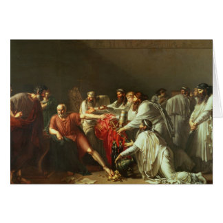 Hippocrates  Refusing the Gifts of Artaxerxes I Greeting Card