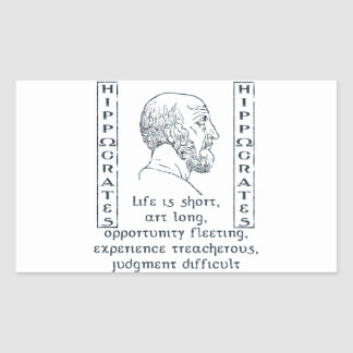 Hippocrates Rectangle Sticker