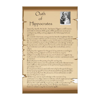 Hippocratic Oath Gallery Wrapped Canvas