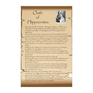 Hippocratic Oath Canvas Print