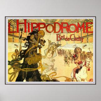 Hippodrome Boulevard De Clichy French Circus Poster