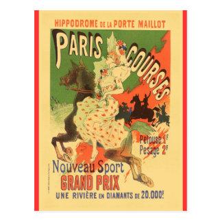Hippodrome de Porte Maillot, Paris, Paris Courses Postcard