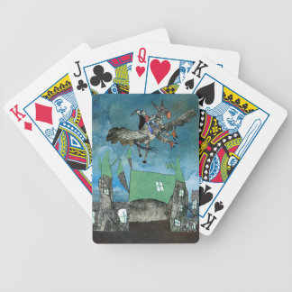 Hippogriff in a wizarding world bicycle playing cards