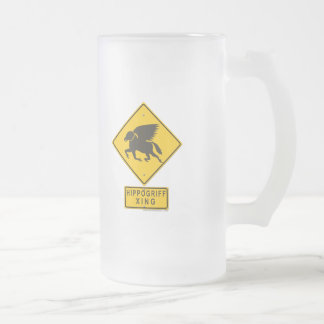 Hippogriff XING Frosted Glass Beer Mug