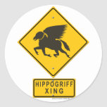 Hippogriff XING Round Stickers