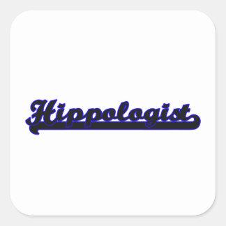Hippologist Classic Job Design Square Sticker