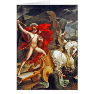 Hippolytus and Sea Monster by Bordier du Bignon Stationery Note Card