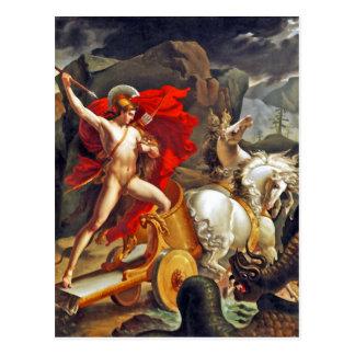 Hippolytus and Sea Monster by Bordier du Bignon Postcard
