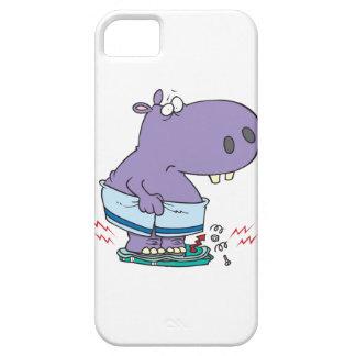 hippopotame lourd cassant l'humour de régime d'éch iPhone 5 covers