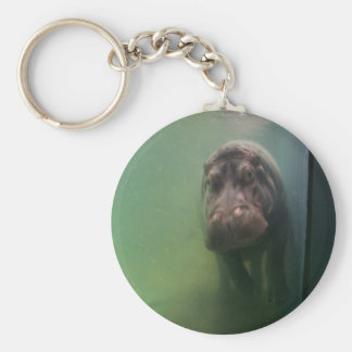 Hippopotamus Abstract #2 Keychain