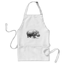 Hippopotamus Adult Apron