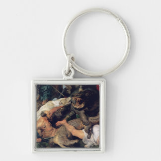 Hippopotamus and Crocodile Hunt, c.1615-16 Keychain