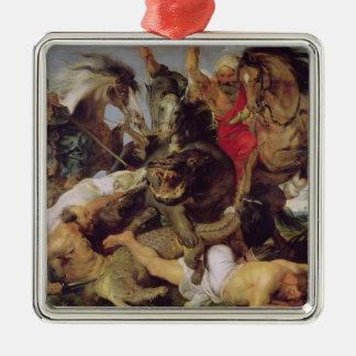 Hippopotamus and Crocodile Hunt, c.1615-16 Christmas Ornament