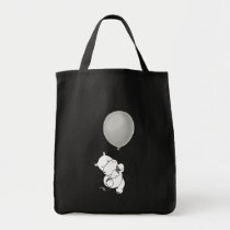 Hippopotamus and his balloon tote bag
