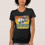 Hippopotamus animal del rescate camisetas