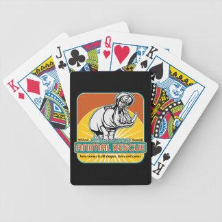 Hippopotamus animal del rescate baraja de cartas