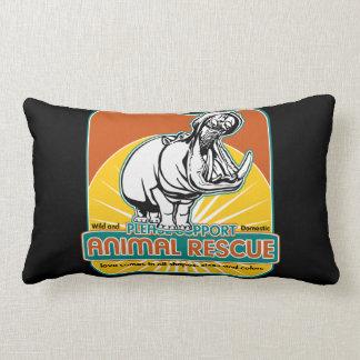 Hippopotamus animal del rescate cojin