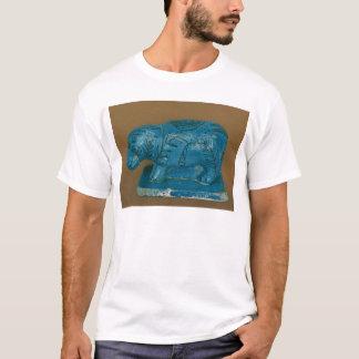 Hippopotamus azul con la decoración negra playera